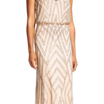 Diamond Beaded Blouson Dress