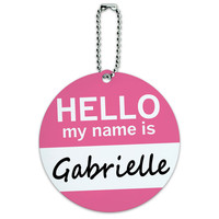 Gabrielle Hello My Name Is Round ID Card Luggage Tag