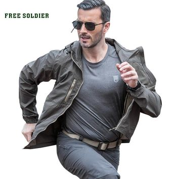 FREE SOLDIER Outdoor sports camping hiking tactical military skincoat UV protected ultralight jacket breathable coat for men