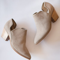 Sashay Suede Open Side Bootie