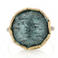 Danielle Welmond | London Blue Quartz Lace Ring at Voiage Jewelry