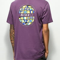 Nike SB Dri Fit Global Purple T-Shirt | Zumiez