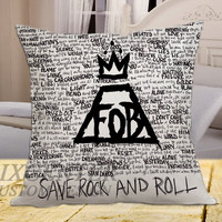 Fall Out Boy Save Rock and Rool on square pillow cover 16inch 18inch 20inch