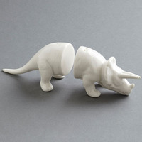 Triceratops Salt & Pepper Shakers