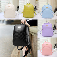 6 Colors New Women's PU Leather Backpacks Fashion Daypack Girl School Bag Travel Casual Bags For Teeenager Girl High Quality