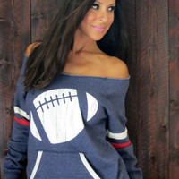 Football Off the Shoulder Girly Sport by FiredaughterClothing