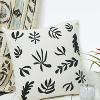Botanical Embroidered Cushion - Urban Outfitters