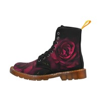 Flowers Martin Boots For Women