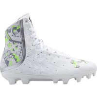 Under Armour Women's Highlight MC Lacrosse Cleat - White/Silver/Volt | DICK'S Sporting Goods