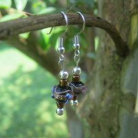Dainty Lampwork Earrings