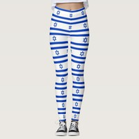 Leggings with flag of Israel