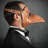 "Plague Doctor mask in Light Brown ""Krankheit"""