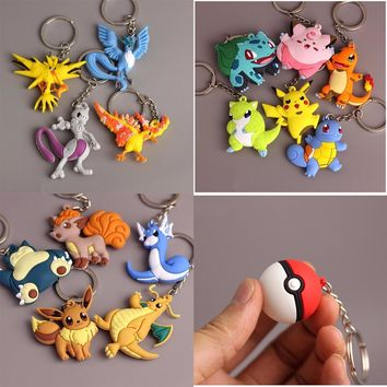 3D Pocket Monster Pikachu Keychain