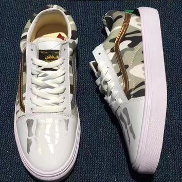 Vans men and women Casual shoes for Camouflage shoes