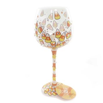 Tabletop Candy Corn Lolita Wine Glass Tabletop