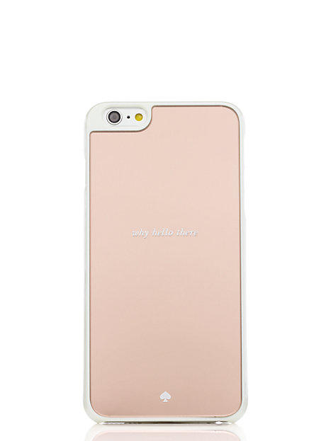 Kate Spade Why Hello There Mirrored Iphone 6 Plus Case Rose Gold ONE 5d85b8174