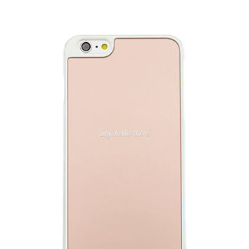 Kate Spade Why Hello There Mirrored Iphone 6 Plus Case Rose Gold ONE
