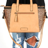 She's Fashion Forward Purse: Tan - What's New - Hope's Boutique
