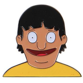 "Bob's Burgers Gene Face Ripple Junction 1.25"" Enamel Pin"