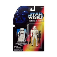 STAR WARS THE POWER OF THE FORCE RED CARD WITH HOLOGRAM - STORMTROOPER with BLASTER RIFLE and HEAVY INFANTRY CANNON