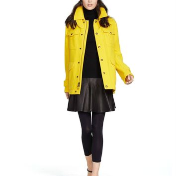 Polo Ralph Lauren Yellow Wool Blend Thicket Coat
