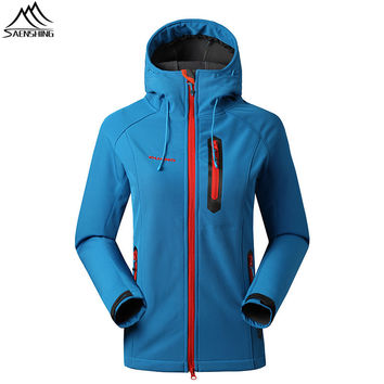 2016 Brand Women Clothes for fishing Trekking Outdoor Softshell Jacket Chaqueta Impermeable Mujer Windproof Hunting Clothes