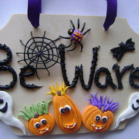 Halloweedn Door Sign. Kids Door Sign. Halloween Decoration. Ready to Ship