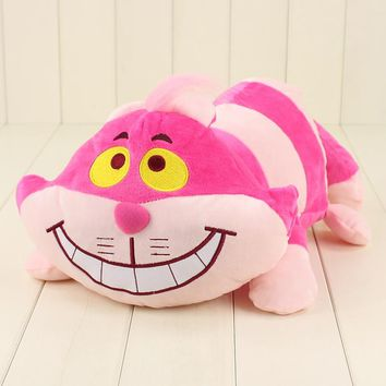 45cm movie Alice in Wonderland Cheshire cat plush cartoon doll toy cute cat soft stuffed lovely animal cotton doll toy for kids