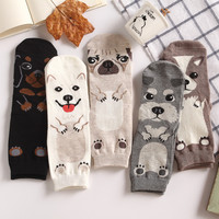 Foot 22-25cm Crew Socks Unisex Pet Short Puppy Doberman Corgi Dachshund Sausage Dog Pug Doge Papillon Collie Husky Schnauzer New