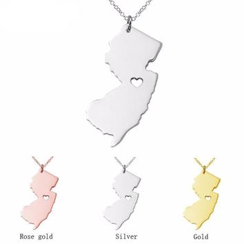 New Jersey Girl State Necklace - 3 Colors