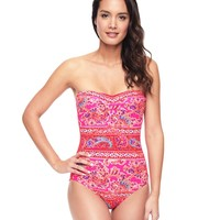 Azalea Crochet Side Maillot by Juicy Couture,