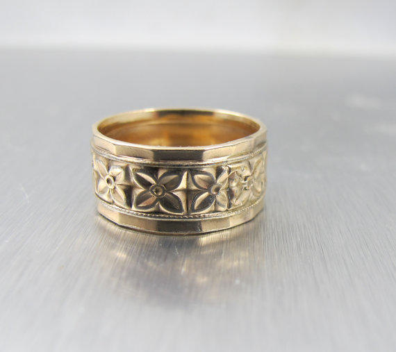 Victorian Wedding Band Ring Cigar Band From