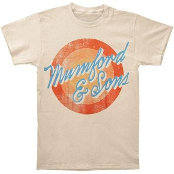 Mumford & Sons Men's  Sun Script 2012 Tour Slim Fit T-shirt Beige