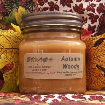 AUTUMN WOODS CANDLE - Highly Scented - Strong