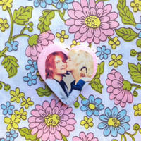 Cortney Love and Kurt Cobain Brooch by nastynasty on Etsy