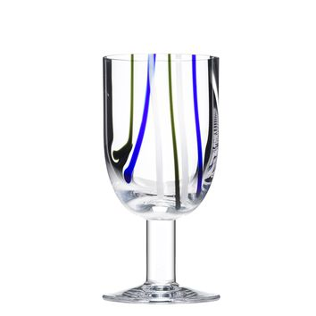 Contrast Wine Glass - Multi Color Set of 4