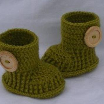 Crochet baby booties boots for 0 to 3 by kristine1986 on Etsy