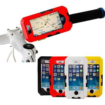 Waterproof Shockproof Shell Bicycle Case Handlebar Pouch Mount Holder Cases for iPhone 5s 5c SE 6 6s 7 plus bike phone holder