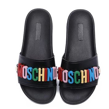 MOSCHINO Casual Fashion Women Sandal Slipper Shoes