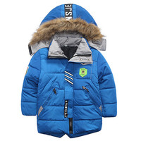 High Quality Boys Thick Down Jacket New Winter Long Sections New Kids Warm Coat Clothes Boys Hooded Down Outerwear Kids Clothes