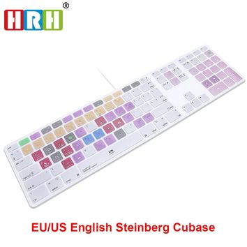 HRH Steinberg Cubase Hot key Design Keyboard Cover For Apple Keyboard with Numeric Keypad Wired USB for iMac G6 Desktop PC Wired