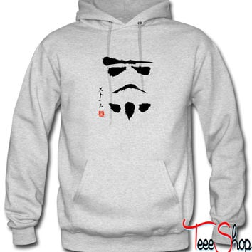 Awesome Star Wars stromtrooper Japanese symbol hoodie