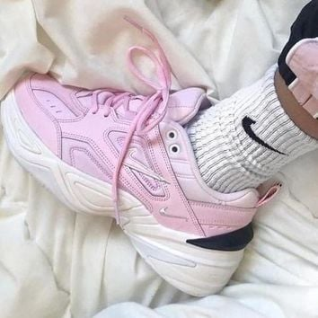 Nike Air Monarch 4 M2K Tekno Women's Shoes Running Retro old Sneakers Pink