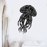 Vinyl Wall Decal Abstract Jellyfish Marine Animals Room Decor Stickers (ig3505)