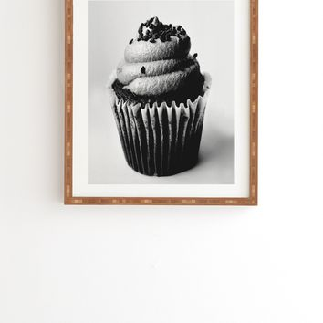 Allyson Johnson Black And White Cupcake Photograph Framed Wall Art