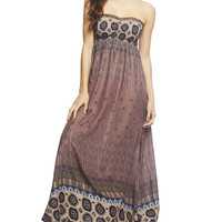 Cinch Smocked Tube Maxi Dress | Wet Seal