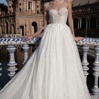 Alon Livné White Anastasia Embellished Strapless Ballgown (In Selected Stores Only) | Nordstrom