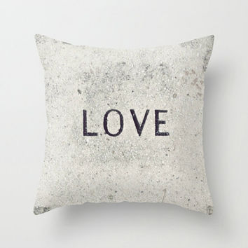 Decorative Throw Pillow Cover - Love Stone Photography - Accent Pillow Case - Neutral Photo Throw Pillow Cover