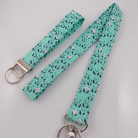 Panda Lanyard Teacher Lanyard Animal Lanyard Pandas Bear Lanyard Panda Key Ring Work Lanyard Panda Necklace Panda Bears Mint Green Lanyard