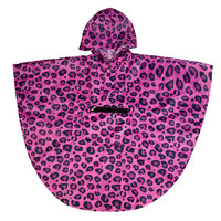 Pink Leopard Poncho (6-12) - 80214